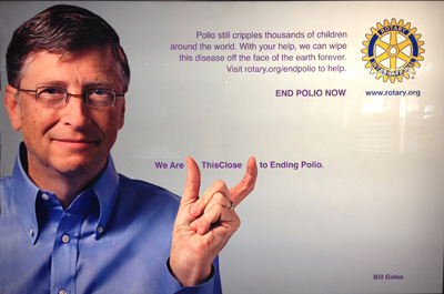 rotary end polio now campaign bill gates