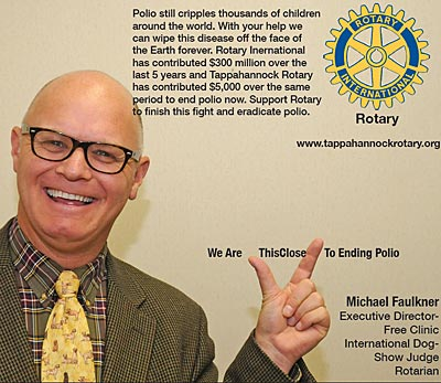 rotary end polio now campaign michael faulkner